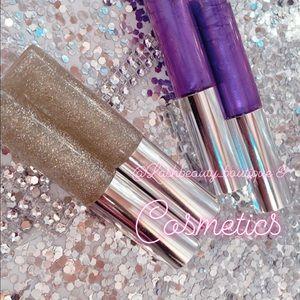 Other - Handmade Lipgloss Purple & Gold Set of 2